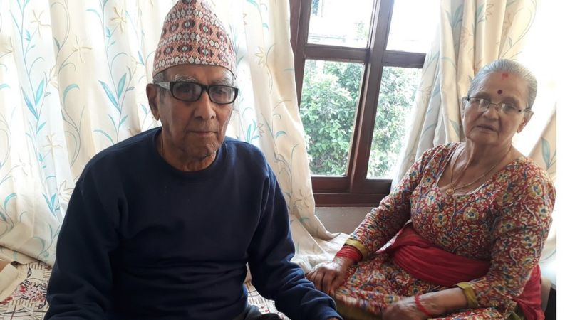 Madhav ghimire and his wife