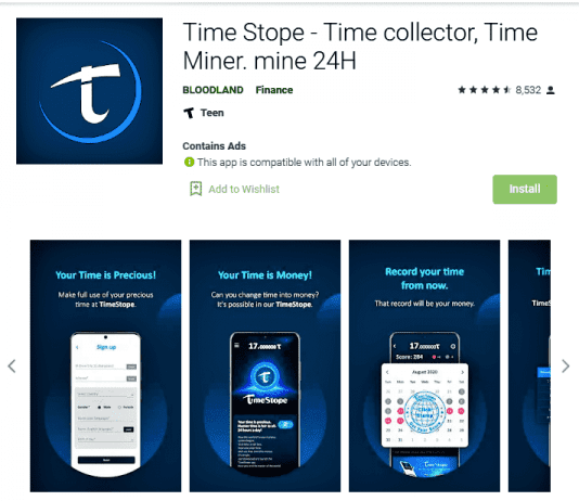 Timestope - New cryptocurrency
